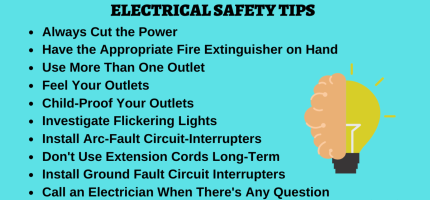 50 Electrical Safety Tips for Home | Appliances | Workplace | Industries