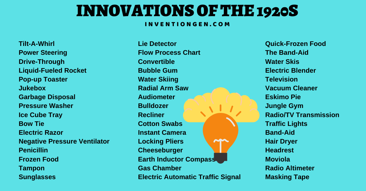 innovations of the 1920s the 1920s innovations in the table best show a trend toward 1920 innovations