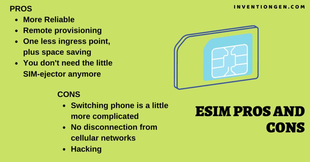 eSIM Advantages and Disadvantages Pros Cons