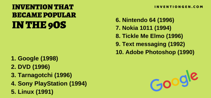 10 Invention Examples that Became Popular in the 90s