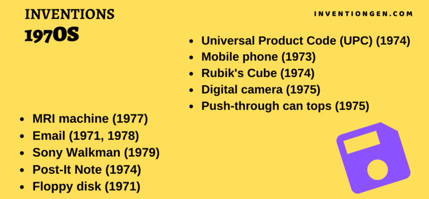 10 Popular Inventions in the Golden 1970s